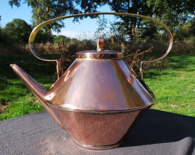 French Copper Kettle with Copper Fittings Distinctive All Copper Kettle NOT Water Tight Decorative French Copper Kettle