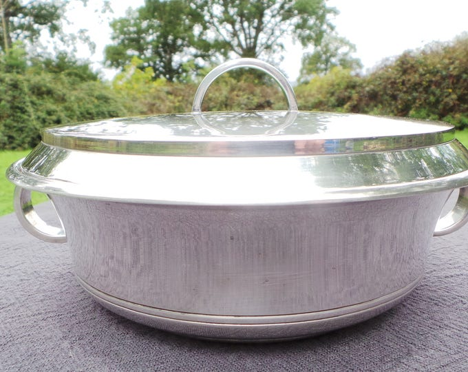 Ercuis Silver Plated 'Metaille Blanc' Casserole Serving Dish Real Luxury Made by Ercuis of Paris Beautiful Special Serving Dish