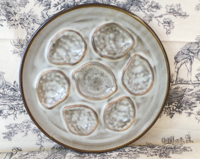 Nidervillers French Vintage Shellfish Oyster Mussel Coquille Plate Made in France Seafood Plate Fabulous Quality Not Marked Sold Singly