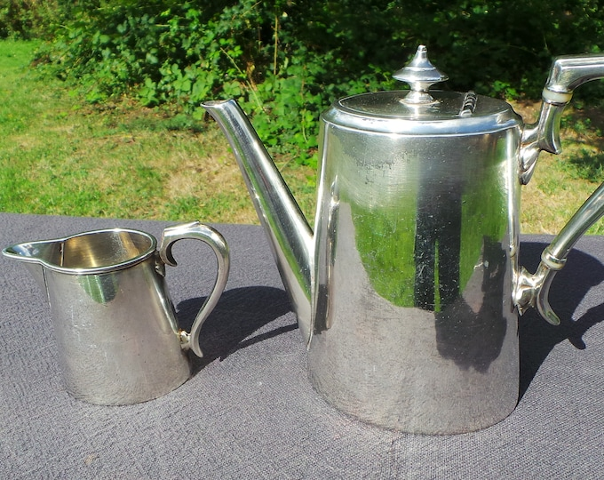 Coffee Pot and Milk Jug James Dixon and Sons Silver Plated Fittings Water Tight English Silver Plated Sheffield England EPBM 2412P