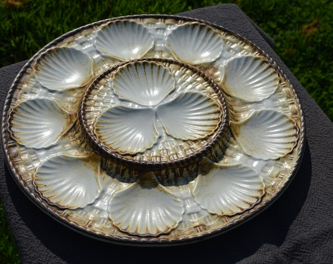 Chantilly Platter French Scollop Coquille St Jacques Oyster Mussel  or Shellfish Master Plate Made in France Chantilly - One Massive Platter