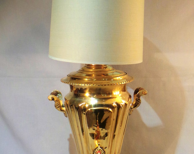 Samovar Table Lamp French Vintage Solid Bronze/ Brass Lamp Base Quality Brass Chateau Chic Table Lamp All Working Condition Heavy Cast Brass