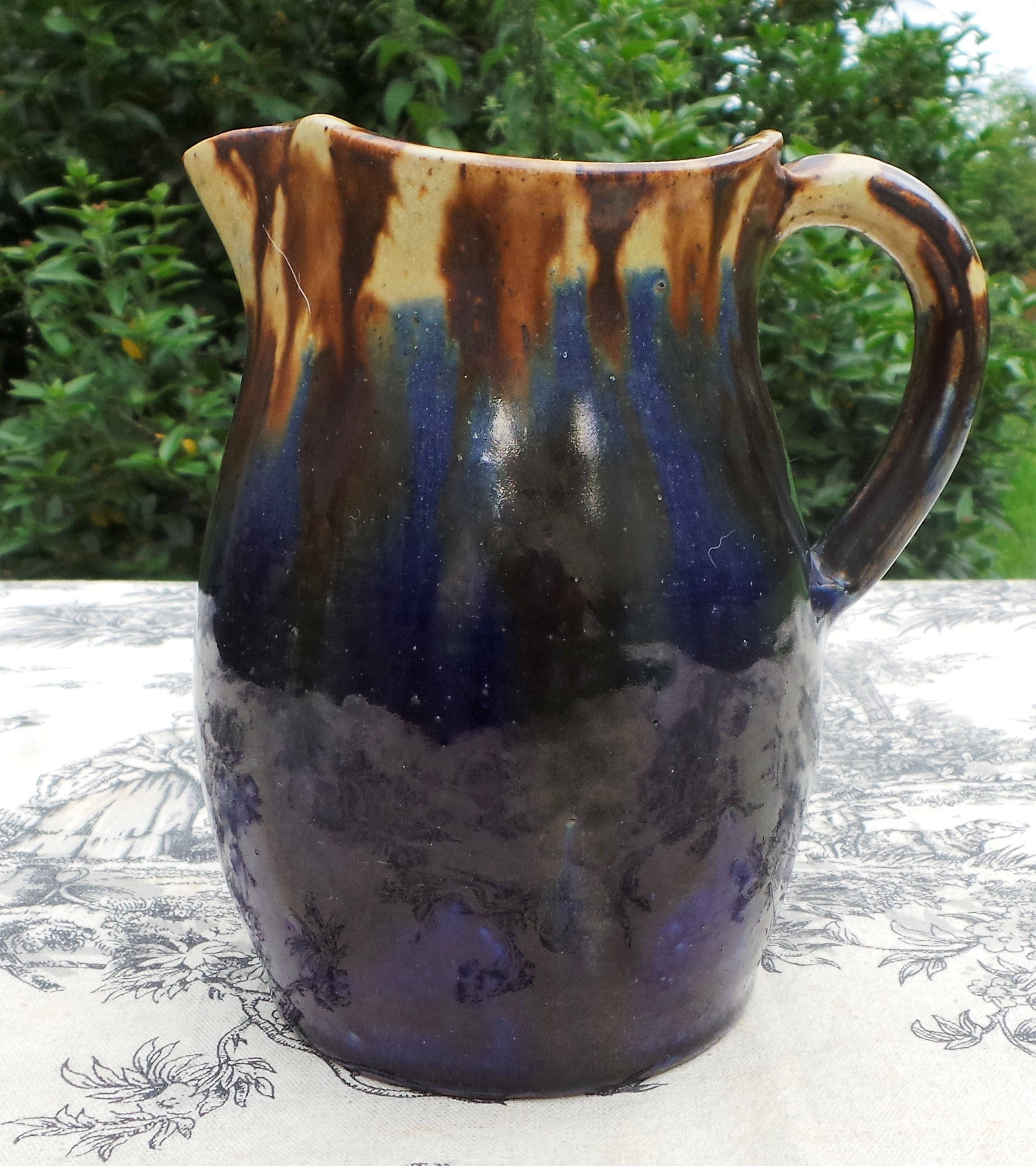 joseph talbot pottery jug pitcher fully marked made by. Black Bedroom Furniture Sets. Home Design Ideas