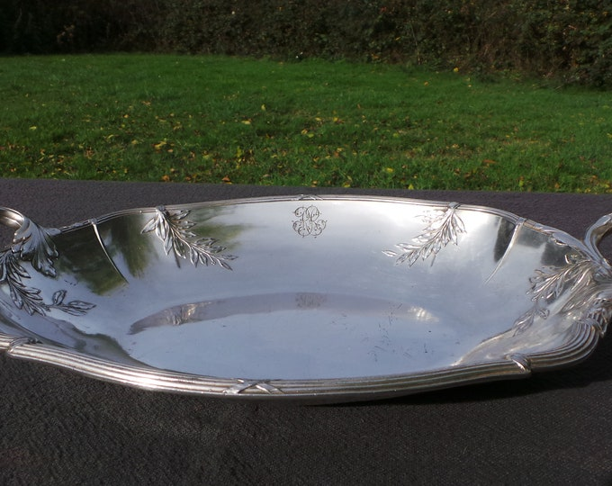 Vintage French Silver Plate Dish Fruit Bowl Gallia Orfevrerie 1908-1929 Alfenide 4859 Beautiful Design French Bowl French Silver Plated Bowl