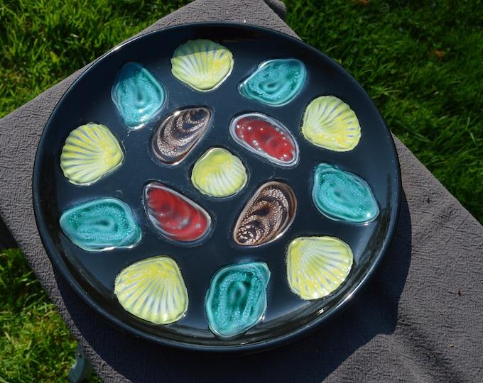 Elschinger Alsace Oyster Platter Oyster Plate French Oyster Mussel Platter Shellfish Master Plate Made in France - One Massive Platter