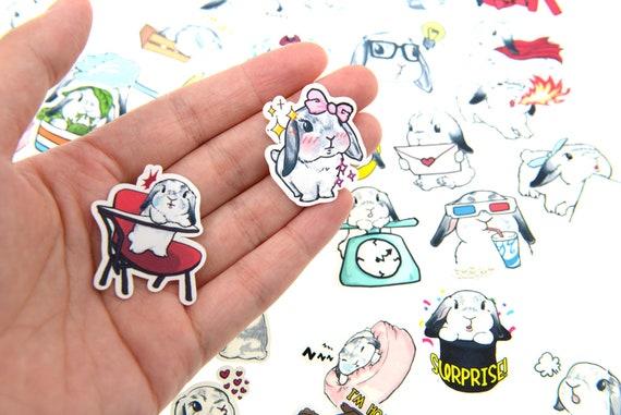 220pcs Lop bunny Stickers lot Die-cuts for junk bullet journal scrapbook