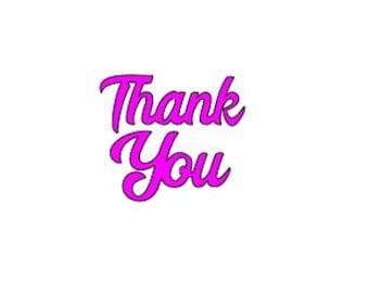 Thank you SVG. Sentiment papercut template. Cricut Silhouette file