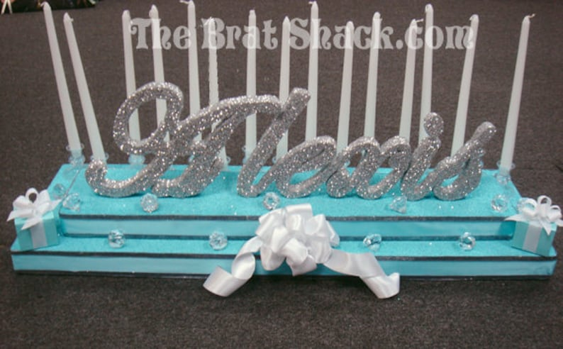 Tiffany And Co Inspired Theme Sweet 16 Candelabra Etsy