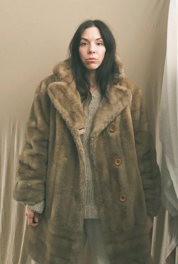 70s Faux Fur Coat