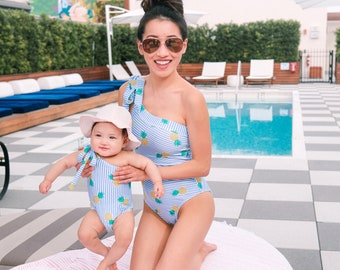 92cc66cd87 Mommy & Me matching Pineapple swimsuit (Petite and Regular)