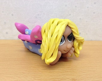 Polymer Clay Miniature Collectible Fairy  Sculpture - Izzy