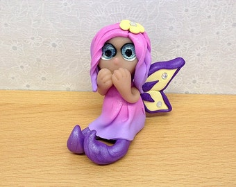 Polymer Clay Miniature Collectible Fairy  Sculpture - Tulip