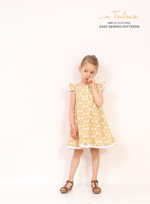 Vintage Girls A Line Dress Pattern Easy Childrens Sewing Etsy