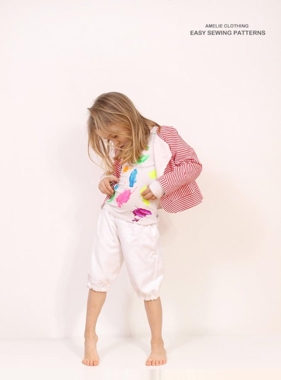 Mina girls BLAZER pattern  toddler jacket pattern pdf  from image 0