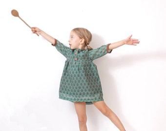 Girls boho DRESS tunic pattern - children sewing pattern - sizes from 3 to 8 years