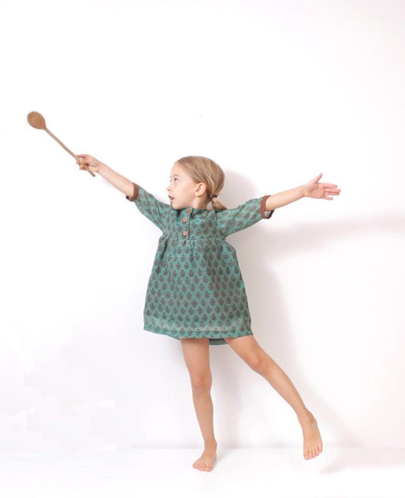 Girls boho DRESS tunic pattern  children sewing pattern  image 0