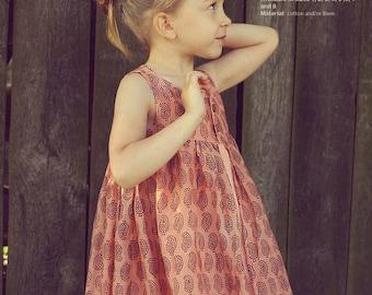 Nohara dress - twirly dress pattern - toddler sewing patterns pdf - INSTANT DOWNLOAD