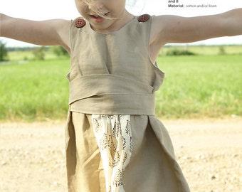 Siiri girls DRESS pattern - easy children sewing patterns pdf - INSTANT DOWNLOAD - toddler dress patterns