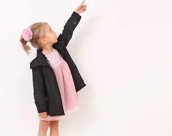 Little girls COAT pattern - pdf children sewing patterns - sizes 3T, 4, 5, 6, 7 and 8 years