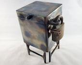 """5"""" Wide, 7"""" Tall Lockable Steel Keepsake Box - Gift Box - Jewelry Box - Pet Urn"""