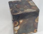 """4.5"""" Tall Steel Keepsake Box - Gift Box - Jewelry Box - Pet Urn"""