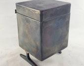"""3"""" Wide 4.75"""" Tall Steel Keepsake Box - Gift Box - Pet Urn"""