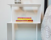 Modern Bent Steel Side Table / Bedside Table / Nightstand