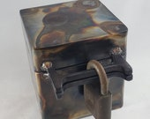 """4.25"""" Tall Steel Lockable Keepsake Box - Gift Box - Jewelry Box - Pet Urn"""