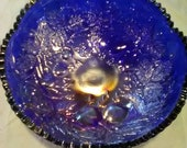 Fenton Bowl, Carnival Glass Simply Beautiful