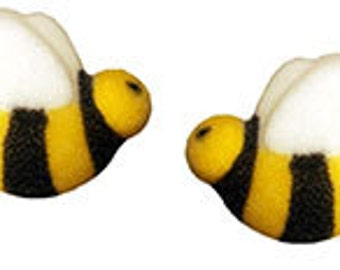 Bumble Bees  Edible Bumble Bee Sugar Decorations        Simply Darling