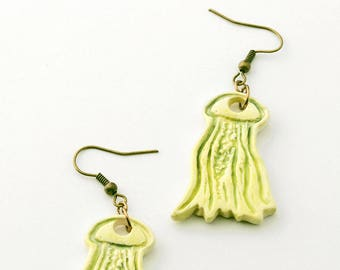 Jellyfish earrings, sea nettle marine biology jewellery, choose your earring wires