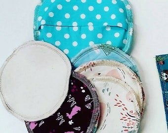 Zero waste cotton and bamboo reusable face wipes