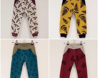 Pocket joggers. Organic cotton joggers trousers