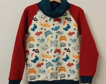 Crafty Pear organic gaming snood jumper sweatshirt