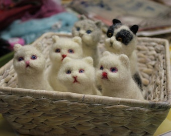 Needle Felted Animal Needle Felted Cat Felted Pets