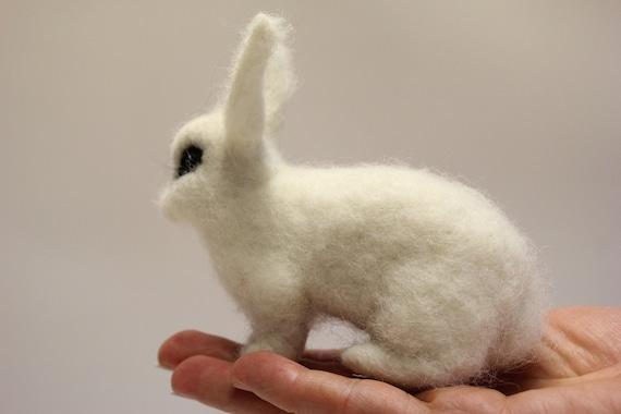 Rabbit Custom made Rabbits cuddle sculpture Hare toys Needle felted Bunny Pet Replica Stuffed Animal Bunny Portrait Bunny custom clone