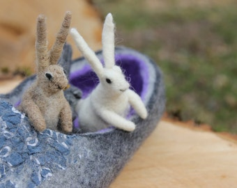 Needle felted   Bunny, home decor