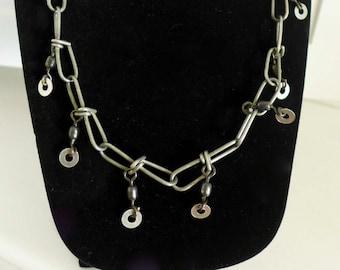 Vintage Hardware Necklace / Industrial Hardware Necklace / Hardware Jewelry