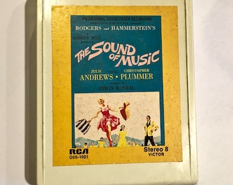 Vintage 8 Track Tape: The Sound of Music/ 1970s Stereo 8-Track/ Sound of Music Movie Soundtrack
