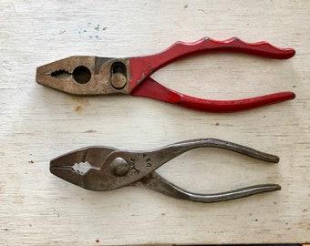 Set of Vintage Pliers/ Industrial Decor/ Vintage 1940s Tools