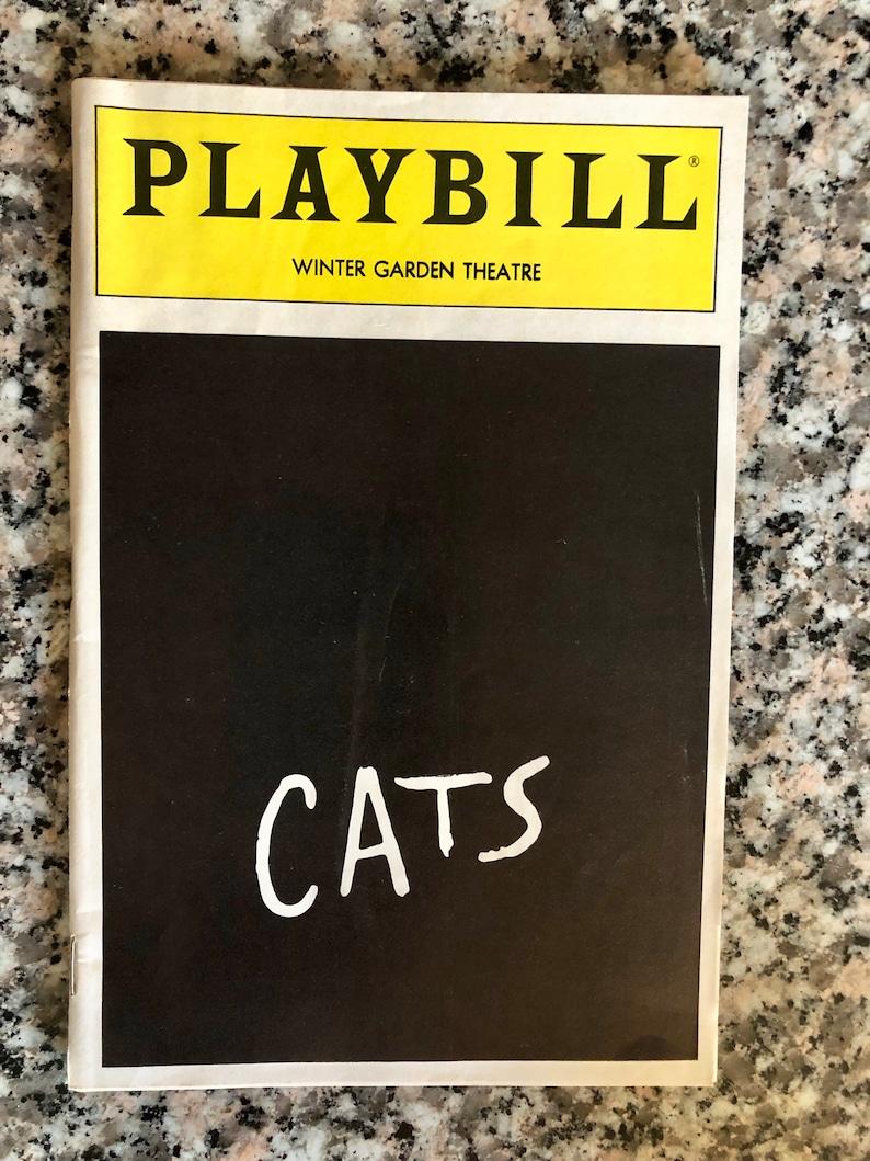 Playbill Cats Winter Garden Theatre 1987 Cast Etsy