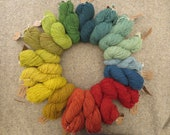Naturally dyed British Swaledale strong aran yarn in 50g skeins