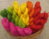 Naturally dyed fine Cashmere and Silk yarn in 50g skeins