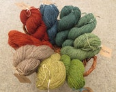 Naturally dyed British Herdwick DK worsted spun yarn in 50g skeins