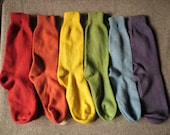 Wool socks - naturally dy...