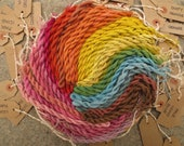 Naturally dyed spun silk very fine embroidery yarn in 20 metre skeins