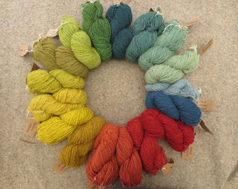 Base 3D - Naturally dyed British Swaledale strong aran yarn in 50g skeins