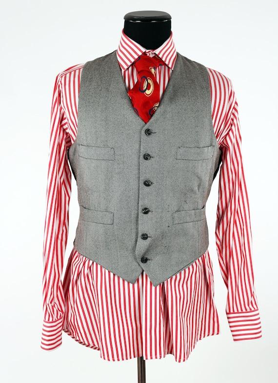 Jahrgang maßgeschneiderte Shirt Herren exklusive Englisch zugeschnitten Jerym St. Schneider seit 1949 Harvie und Hudson von London rot & weiß