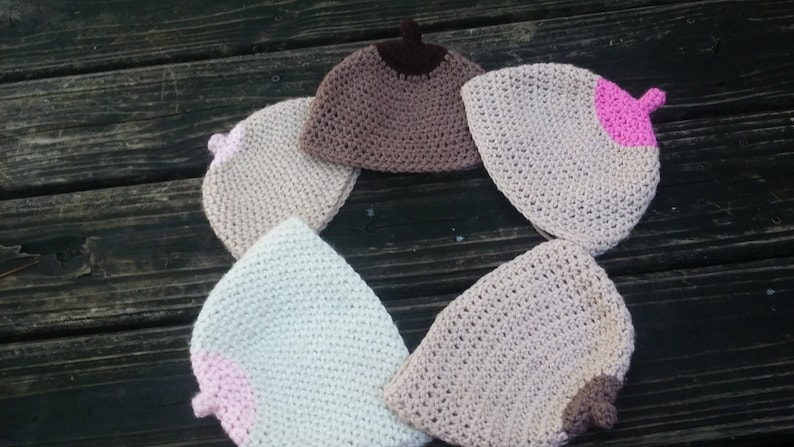BOOBIE BEANIE boob hat breast feeding hat. breast cancer  951bfea5d30e