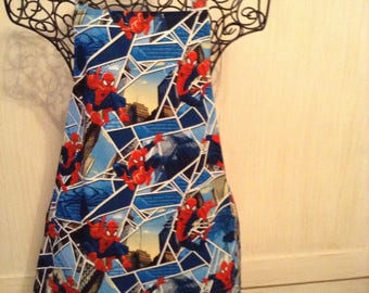 Kids spiderman apron, kids apron, apron, baking apron, superhero apron